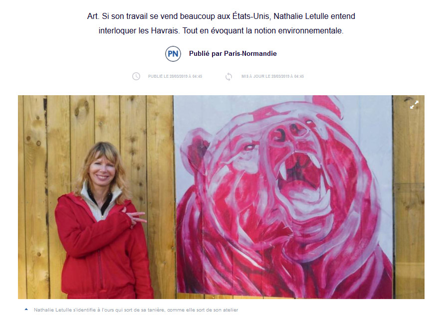 Paris Normandie Nathalie Letulle article presse