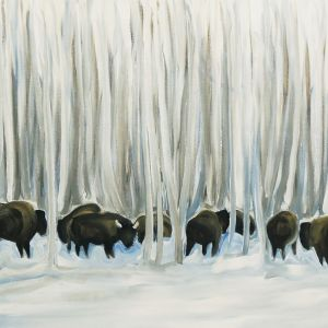 Nathalie Letulle, BISON IN WINTER 1