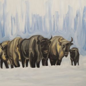 Nathalie Letulle, BISON IN WINTER 2