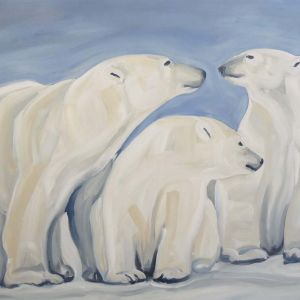 Nathalie Letulle, THREE POLAR BEARS