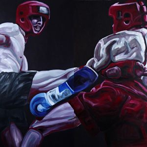 Nathalie Letulle, KICK BOXING, diptyque